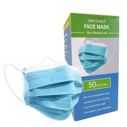 Disposable 3ply Face mask box (50)