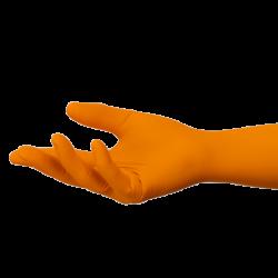 Orange Nitrile gloves Large 300mm (Box)