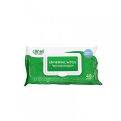 F78077 Clinell Universal Sanitising Wipes (40pk)