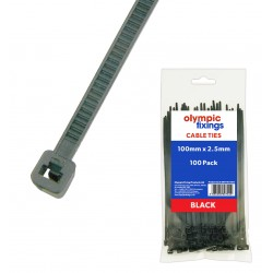 Black Cable Tie 100x2.5
