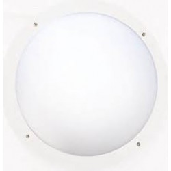 12W CCT 1P66 1000lm Circular bulkhead wh