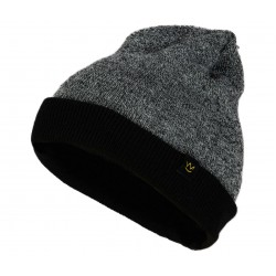 Knitted Cap Dual Color Black