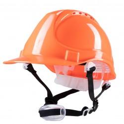 Polstar Helmet ABS 4 Point YS-4 Chin Strap Orange