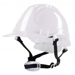 Polstar Helmet ABS 4 Point YS-4 Chin Strap White