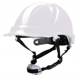 Polstar Helmet ABS 4 Point Knob YS-7 Chin Strap White