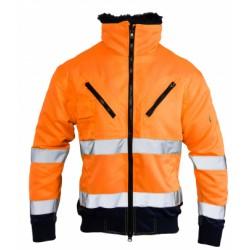 Orange HI-Vis Bomber Safety Jacket